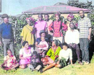 Mapetla Mohapi, slain anti-apartheid activist, with his family.