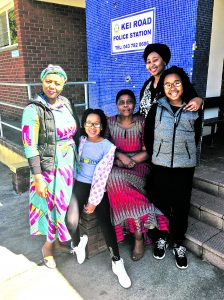 The widow of Mapetla Mohapi at the Kei Road Police Station.