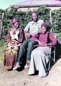 Mapetla Mohapi, his wife Nohle, and sister-in-law, Mrs Matsoanyane Mohapi.