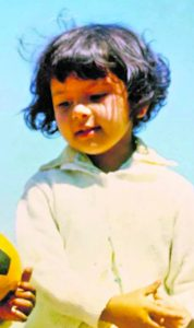 Radia Razack, pictured in 1971, in Cape Town, at age four. At age six she was sexually molested by her maternal uncle. (Photo SUPPLIED)